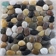 Highly Polished Decorative Natural Pebble Stone,Polished Mixed Color River Stone in Decoration
