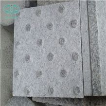 Special Usage Of Walking Way Paving Stone, G603 China Silver White Star White Sesame White Bianco Crystal Grantie Flamed Sandblast Tactile Pedestrian Paver Blind Road Paver,Blind Paving Stone