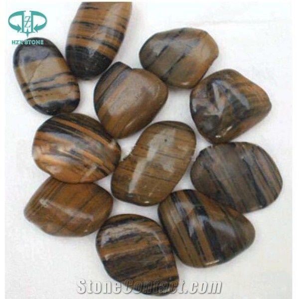 Tiger Stripe Pebble Tiger Stripe River Stone From China