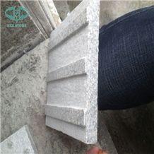 Walking Stone, Blind Granite Stone, Stripe&Round Design Blind Stone, G603 China Silver White Star White Sesame White Bianco Crystal Grantie Flamed Sandblast Tactile Pedestrian Paver Blind Road Paver