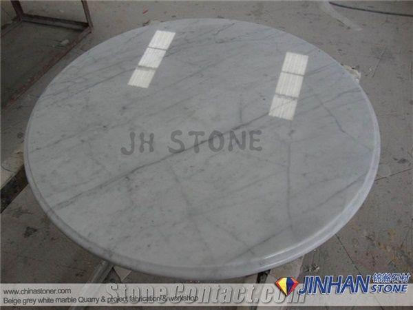 Carrara Marble Table Tops White Round Bianco Carrera Work