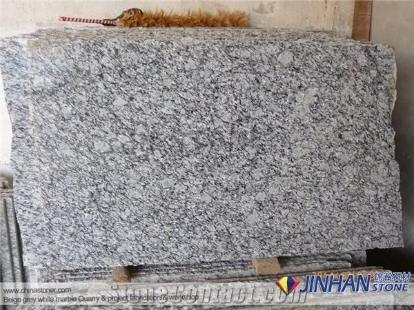 Chinese Polish Flamed Granite Slab Tile Spray White Granite Wall