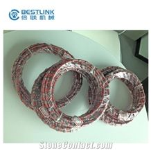 Quarry Diamond Wire Saw, 10.5, 11, 11.5mm Plastic Wire Saw with Beads, Reinforced Concrete Cutting Wire, Marble and Granite Mining Tools, Cutting Wire for Wire Saw Machine, Good Quality Stone Tools