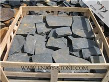 All Sides Natural Split Crazy Paver Zhangpu Black, Black Basalt,Zp Black ,All Sides Natural Split Strip/Tiles/Cut to Size/Slabs/Flooring/Walling/Pavers