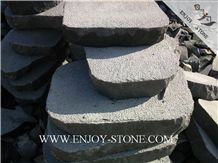 Bush Hammered Flag Stone Zhangpu Bluestone,Zp Bluestone,Bluestone with Cat Paw,Bush Hammered Flag Strip/Tiles/Cut to Size/Slabs/Flooring/Walling/Pavers