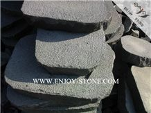 Bush Hammered Surface Bluestone with Sides Natural Split, Fujian Andesite Basalto with Cat Paws/Honeycombs Flagstone, Split Crazy Pavers, Irregular Flagstone Patio,Random Flagstones