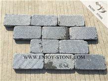 China Grey Bluestone Cobble Stone, Sawn Cut/Machine Cut and Tumbled Cube Stone, Fujian Basalto with Cat Paws/Honeycombs,Fujian Andesite Walkway/Driveway Pavers