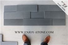 Cultured Stone China Grey Basalto/Basaltina/Andesite Stone Wall Decoration,Honed Stacked Stone Panel,3d Thin Stone Veneer