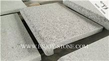 Flamed Rebated Bullnose G603 Sesame White, Salt & Pepper, Padang White, White Granite Flamed Dropface Bullnose Pool Pavers/Cut to Size/Slabs/Flooring/Walling/Pavers/Granite