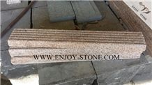 G682 Yellow Rustic Granite Stone Stairs&Steps,Grooved Stair Treads