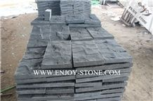 Hainan Black Bluestone with Catpaws/Wall Cladding Stone, Mushroom/Natural Split Surface Hn Basalto
