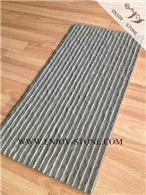 Half Planed Surface Fujian Grey Basalt,Grooved and Natural Split Finish Basaltina Tiles&Slabs,Exterior&Interior Wall Decoration,China Andesite Floor Tiles