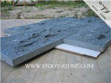 Mushroom/Natural Split Tiles G612 Olive Green,Zhangpu Green, Green Granite, Mushroom /Natural Split Tiles/Cut to Size/Slabs/Flooring/Walling/Pavers/Granite