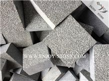 Oliver Green Granite Cobble Stone,G612 Granite Bush Hammered Surface Sides Machine Cut Cube Stone, Outdoor Garden Stepping Pavements,Driveway Paving Stone,Walkway Pavers