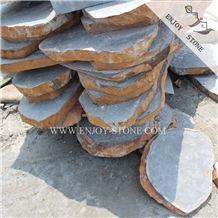 Zhangpu Black Basalt,Fujian Black Andesite,Basalto Flagstone Driveway,Flagstone Road,Flagstone Paver