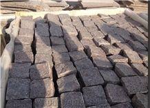 China Granite/Qilu Red Cube Stone /G3754/Red Granite Cobble Stone