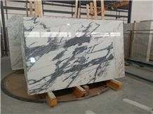 Calacatta Nero, White Marble with Black Veins Portugal Slabs & Tiles