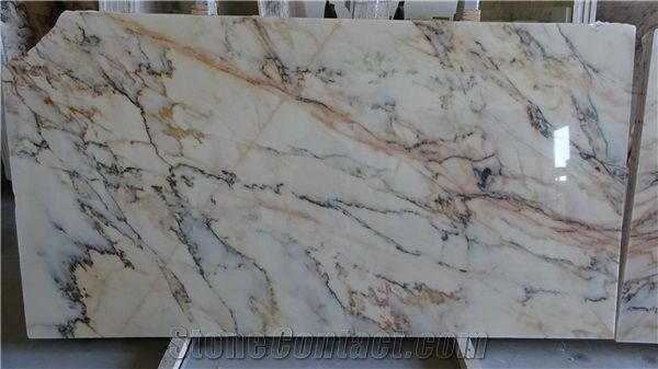 Statuario Rosso Marble White Marble With Pink Statuario