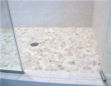 Shower Floor Mosaic Tile Bathroom Quartzite Stone Swimming Pools