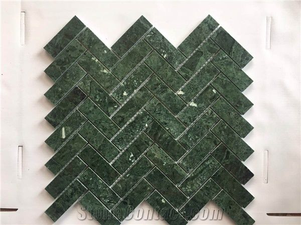 India Natural Polished Marble Stone Dark Green Floor And
