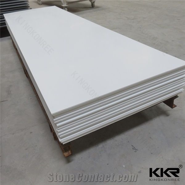 12mm Glacier White Corian Solid Surface Sheet For Hotel