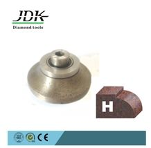 H-Shape Granite Edge Profiling Diamond Router Bit