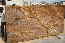 Factory Price Import Rainforest Brown Marble Slabs for Home Decoration