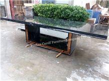 10 Seater Luxury Black Italian Marble Dining Table