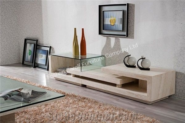Home Decor Luxury Modern Marble With Gl Tv Stand From