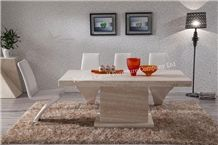 Luxury Furniture Nature Travertine Dining Table for 8 Persons