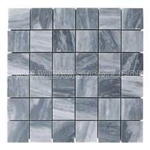 Bardiglio Marble Mosaic Square Polished for Interior Kitchen, Bathroom, Backsplash Wall Floor Tile