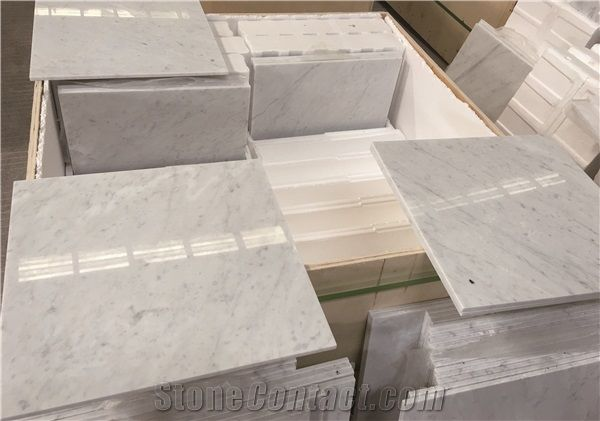 Italy Bianco Carrara WhiteBlanc De CarrareBianco Di Carrara Marble - Carrara marble tile sizes