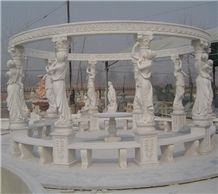 China White Marble Garden Gazebo