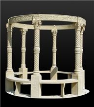 Hot Sale Western Style Gazebo, Hand Carved Marble Gazebo, Stone Gazebo,Customized Gazebo