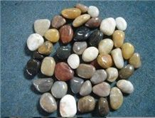 Natural Polished Mixed Pebble Stone, Decoration Pebbles for Aquarium