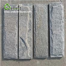 Green Quartzite Split Mushroom Pillow Face Castle Stone Strip for Feature and Garden Exterior Wall Cladding