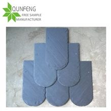 Half Round Shape Black Roof Tiles for Roof Coating