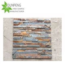 High Quality Brown Rusty Slate Stacked Stone for Ledger