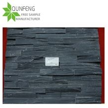 Natural Black Slate Stacked Stone,Cheap Ledgestone,Wall Cladding Stone,Ledgestone Corner