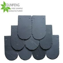 Natural Fish Scale Black Slate Roofing Tiles, Slate Roof Tile for Roof Coating