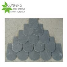 On Sale China Grey Fish Scale Shape Roofing Slate Tiles for Roof Coating or Wall Decorative Stone
