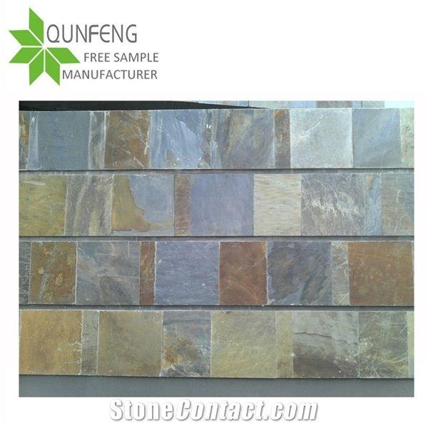 Popular On Sale Natural Multicolor Slate Floor Tiles For Slate Wall