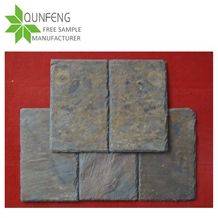 Rectangular Rusty/Multicolor Slate Roof Tile, Natural Split,With Pre-Drilled Holes,Roofing Slate Tiles,Rust Slate