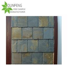 Rectangular Rusty Slate Roof Tiles for Wall Covering,Roofing Slate Stone