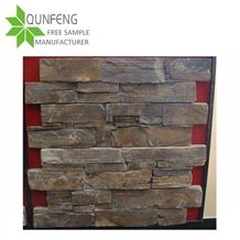 Shape Z Cement Bottom Natural Brown Slate Culture Stone/Stacked Stone/Ledge Stone