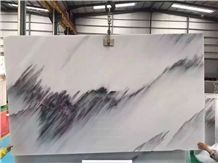 Blue Sky White Marble Polished Slabs