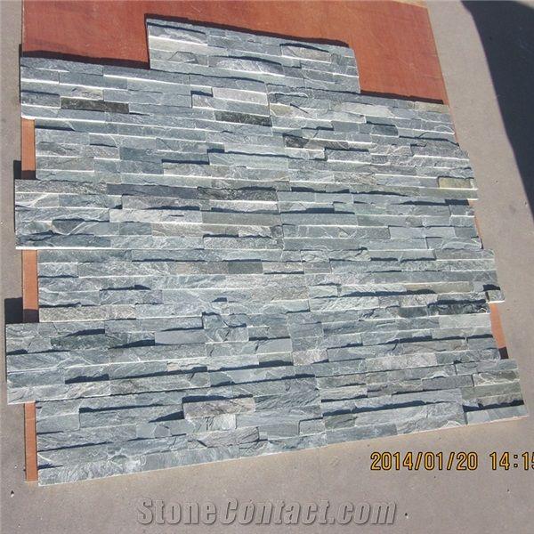 Raw green fireproof stone veneer brick wall panels - Interior decorative stone wall panels ...