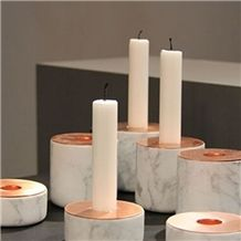 Carrara White Marble Candle Holders, Carrara White Marble Trivets, Marble Platters