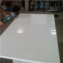 Pure White Nano Crystallized Glass Stone Big Slabs,Solid Surface Artificial Marble Stone Tile Cut to Size/Crystal Glass White Artificial Stone