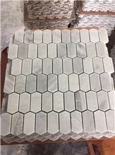 White Marble Mosaic / Allotype Mosaic/Polygon White Mosaic/Hexagon White Mosaic